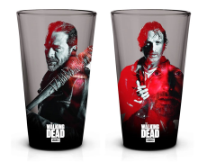 The Walking Dead Rick and Negan Pint Glasses Set of 2