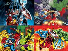 Marvel Avengers LED Canvas Art Set of 4