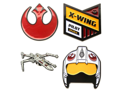 Star Wars Rebel Alliance Symbol and X-Wing Fighter Pin Set