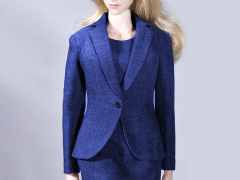 Office Lady Dress Suit (Blue) 1/6 Scale Accessory Set