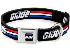 G.I. Joe Stripe Logo SeatBelt Buckle Dog Collar