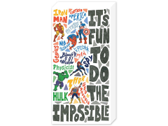 "Marvel Avengers Retro ""It's Fun To Do The Impossible"" Inspirational Canvas Art"