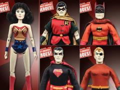 "Super Friends World's Greatest Heroes Series 5 (Universe of Evil) Retro 8"" Figures Set of 5"