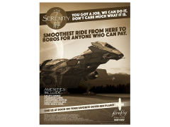 Firefly Serenity for Hire Lithograph