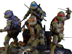TMNT 1990 Movie Museum Masterline Statues - Set of 4