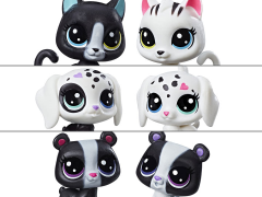 Littlest Pet Shop Black & White BFFs 2-Pack Set of 3