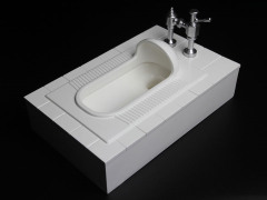 Squat Toilet 1/6 Scale Accessory (White)