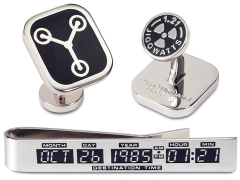 Back to The Future Cufflinks & Tie Bar Gift Set