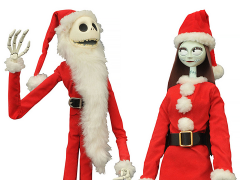 Nightmare Before Christmas Santa Jack & Sally Coffin Doll Limited Set