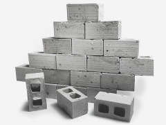 Mini Materials 1/12 Scale Mini Cinder Blocks (50 Pack)