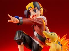 Pokemon ArtFX J Ethan With Cyndaquil Statue