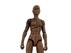 Vitruvian H.A.C.K.S. Female Figure Blank (Tree Bark Brown)