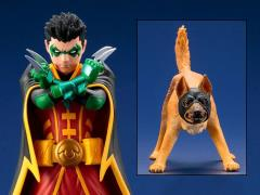 DC Comics Super Sons ArtFX+ Robin & Ace Statue Two-Pack