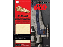 Star Wars IncrediBuilds A-Wing Deluxe Book & 3D Wood Model Kit