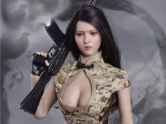 Combat Cheongsam (Digital Camouflage in The Desert) 1/6 Scale Accessory Set