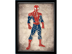 Marvel Spider-Man Printed Glass Art