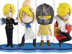 One Piece World Collectable Figure History of Sanji Set 4