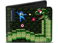 Mega Man 8-Bit Snakey Battle Bi-Fold Wallet