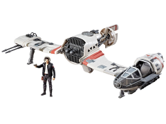 "Star Wars Force Link Resistance Ski Speeder and Captain Poe Dameron 3.75"" Figure"