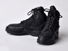 Military Tactical Boots (Black) 1/6 Scale Accessory