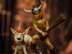 Dungeons & Dragons Battle Diorama Series Bobby the Barbarian & Uni 1/10 Art Scale Limited Edition Statue