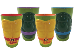 TMNT Molded Shell Pint Glass Four Pack