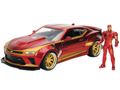 Marvel Metals Die Cast Iron Man & 2016 Camaro