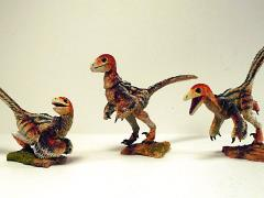 Beasts of the Mesozoic: Raptor Series  NST01 Nestlings Three Pack (Amber)