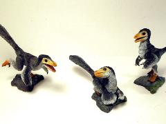 Beasts of the Mesozoic: Raptor Series NST03 Nestlings Three Pack (Grey)