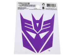Transformers Decepticon Static-Cling Decal (Purple)