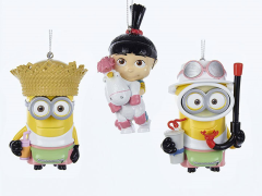 Despicable Me Agnes & Minions Ornaments Set of 3
