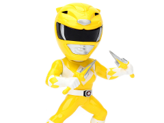 "Mighty Morphin Power Rangers Metals Die Cast 4"" Yellow Ranger Figure"