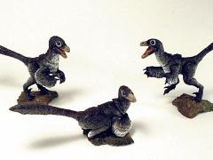 Beasts of the Mesozoic: Raptor Series NST02 Nestlings Three-Pack (Black)
