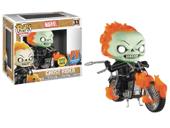Pop! Rides: Marvel - Ghost Rider With Bike (Glow In The Dark) PX Previews Exclusive