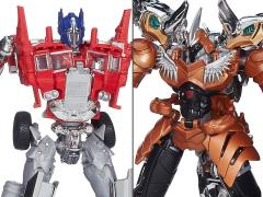 Transformers: Age of Extinction Voyager Optimus Prime & Grimlock Platinum Edition Box Set