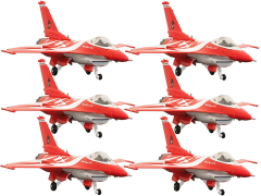 RSAF F-16C Black Knights Team (SG50 Edition) 1/144 Scale Collectible Model Set (LE 500)