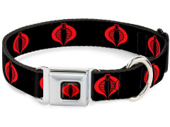 G.I. Joe Cobra Logo SeatBelt Buckle Dog Collar