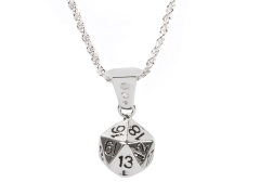 D20 (20-Sided Dice) Pendant