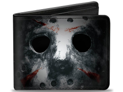 Friday The 13th Jason Mask (Close-Up) Bi-Fold Wallet