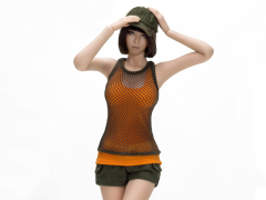 1/6 Scale Combat Short Fashion Clothing Set - Olive
