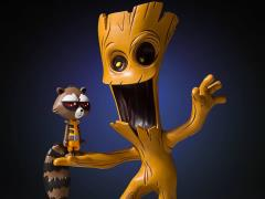 Marvel Animated Groot & Rocket Statue