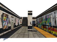 Subway Terminal 1/12 Scale Pop-Up Diorama
