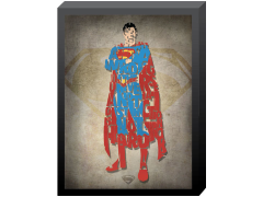DC Comics Superman Printed Glass Art