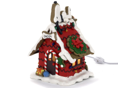 Peanuts Snoopy & Light-Up Gingerbread House - Ships to USA Only