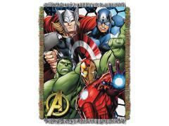 Marvel Avengers Best Team Woven Tapestry Throw Blanket