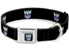 Transformers Decepticon Logo SeatBelt Buckle Dog Collar