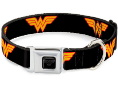 DC Comics Wonder Woman Logo SeatBelt Buckle Dog Collar