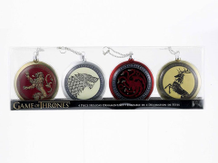Game of Thrones Family Crest Disc Ornaments Box of 4