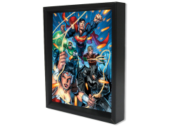 DC Comics Shadow Box - Justice League Attack