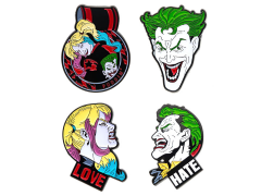 DC Comics Joker and Harley Quinn Enamel Pin Set